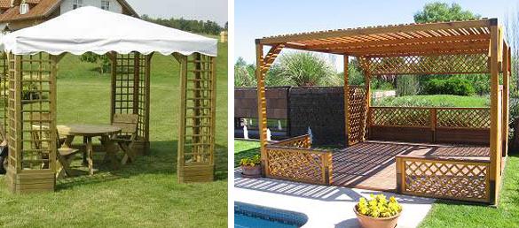 El toque elegante para tu jard n las p rgolas exteriores para piscinas - Pergolas para jardines ...