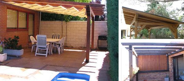 P rgolas para su piscinas la web de los exteriores para for Cobertizos madera economicos