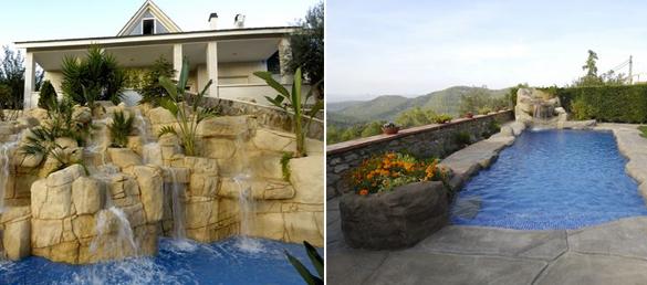 Cascadas artificiales y decorativas rocas art exteriores for Disenos de cascadas para piscinas