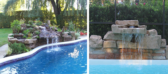 Fuentes y cascadas de jard n la web de los exteriores para piscinas - Fuentes para piscinas ...