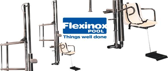 Detalles Elevador Hidráulico de Flexinox Pool