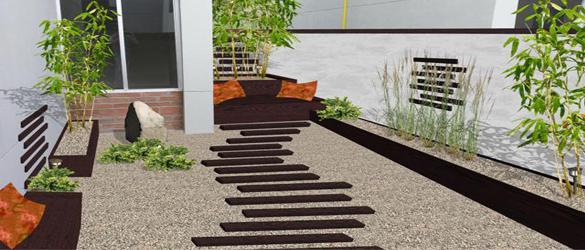 Jardines minimalistas la web de los exteriores para piscinas for Casa minimalista concepto