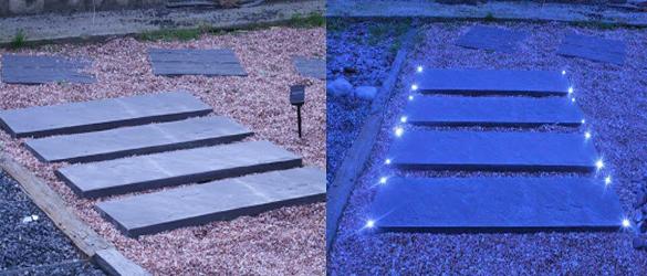 Pizarra jard n veleston led la web de los exteriores - Suelos para jardines pequenos ...