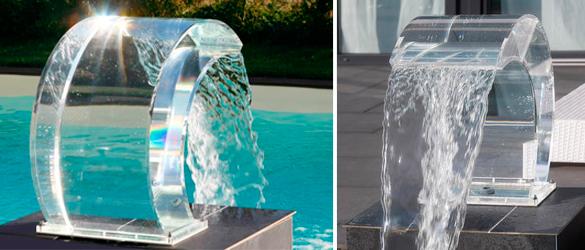 Cascadas acr licas originales y transparentes la web de for Modelos de piscinas con cascadas