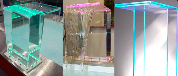 Cascada acrílica modelo RIO
