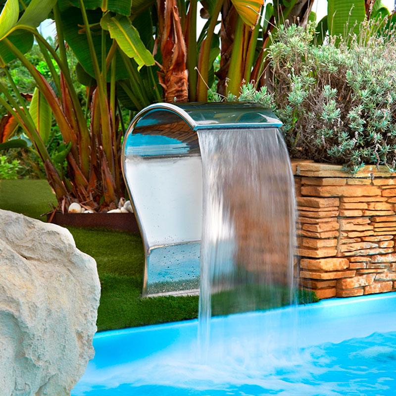 Cascada y ca n cayman de flexinox pool exteriores para for Canon piscina