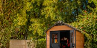 caseta de jardín en resina modelo newton